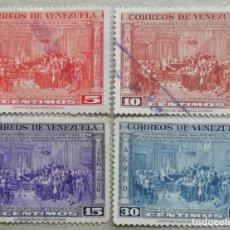 Sellos: 1950. VENEZUELA. A-305 / A-309. BICENTENARIO DEL NACIMIENTO DE FRANCISCO DE MIRANDA. USADO.. Lote 243337195