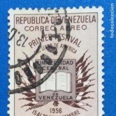 Sellos: USADO. VENEZUELA. AÑO 1957. PRIMER FESTIVAL DEL LIBRO AMERICANO. YVERT 611 AÉREO. Lote 244022420