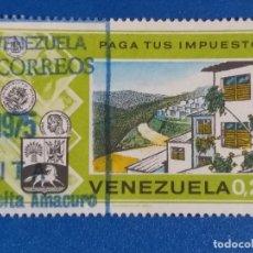 Sellos: USADO. VENEZUELA. YVERT 913 - PAGA TUS IMPUESTOS - MAS VIVIENDAS. (1974).. Lote 244023280