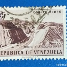 Sellos: USADO. VENEZUELA. YVERT 597 A. AUTOPISTA CARACAS - LA GUAIRA. Lote 244164405