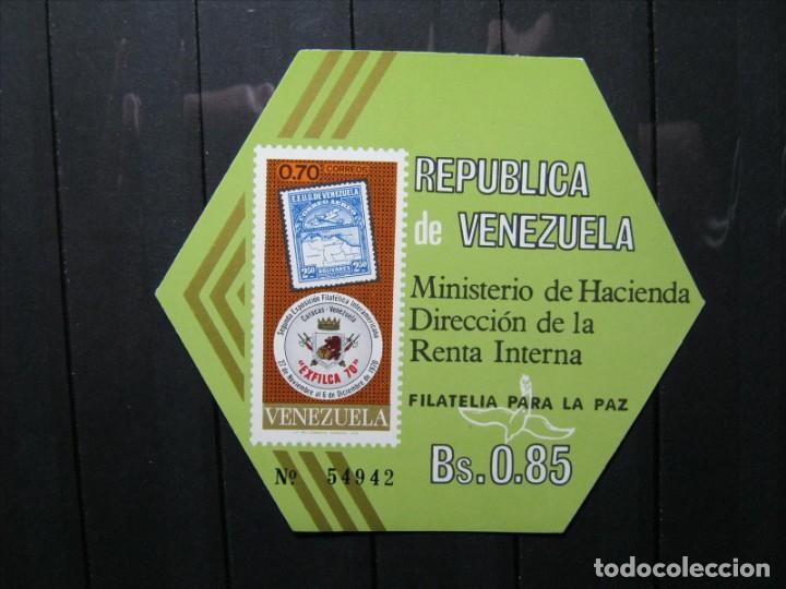 VENEZUELA HOJA FILATELIA PARA LA PAZ MNH** LUJO!!! (Sellos - Extranjero - América - Venezuela)