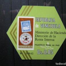 Sellos: VENEZUELA HOJA FILATELIA PARA LA PAZ MNH** LUJO!!!. Lote 254083855