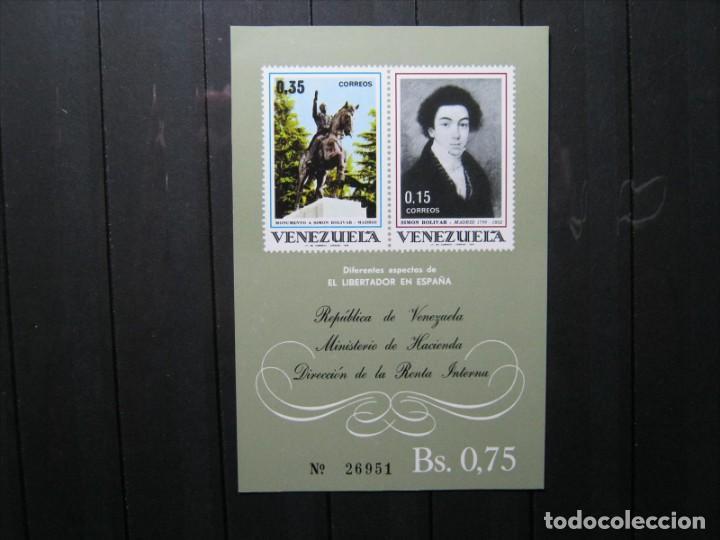 VENEZUELA HOJA SIMÓN BOLIVAR EL LIBERTADOR DE ESPAÑA MNH** LUJO!!! (Sellos - Extranjero - América - Venezuela)