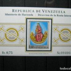 Sellos: VENEZUELA HOJA NUESTRA SEÑORA DE BELÉN MNH** LUJO!!!. Lote 254084160