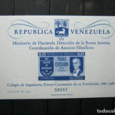 Sellos: VENEZUELA HOJA COLEGIO DE INGENIEROS MNH** LUJO!!!. Lote 254084435