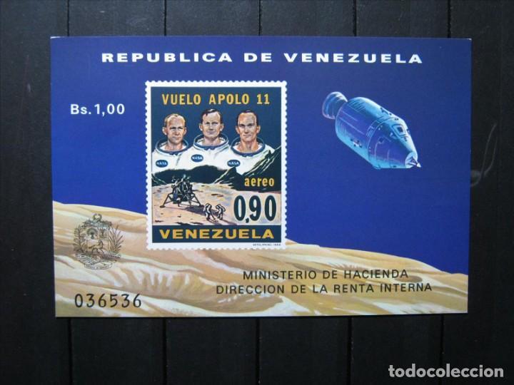 VENEZUELA HOJA VUELO APOLO 11 MNH** LUJO!!! (Sellos - Extranjero - América - Venezuela)