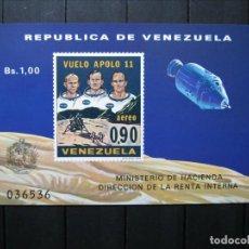 Sellos: VENEZUELA HOJA VUELO APOLO 11 MNH** LUJO!!!. Lote 254084625