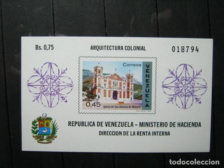 VENEZUELA HOJA ARQUITECTURA COLONIAL MNH** LUJO!!! (Sellos - Extranjero - América - Venezuela)