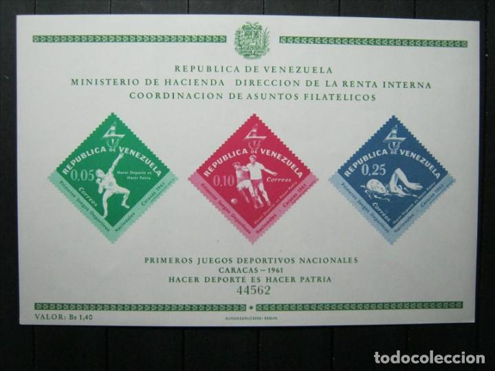 VENEZUELA HOJA PRIMEROS JUEGOS DEPORTIVOS NACIONALES MNH** LUJO!!! (Sellos - Extranjero - América - Venezuela)