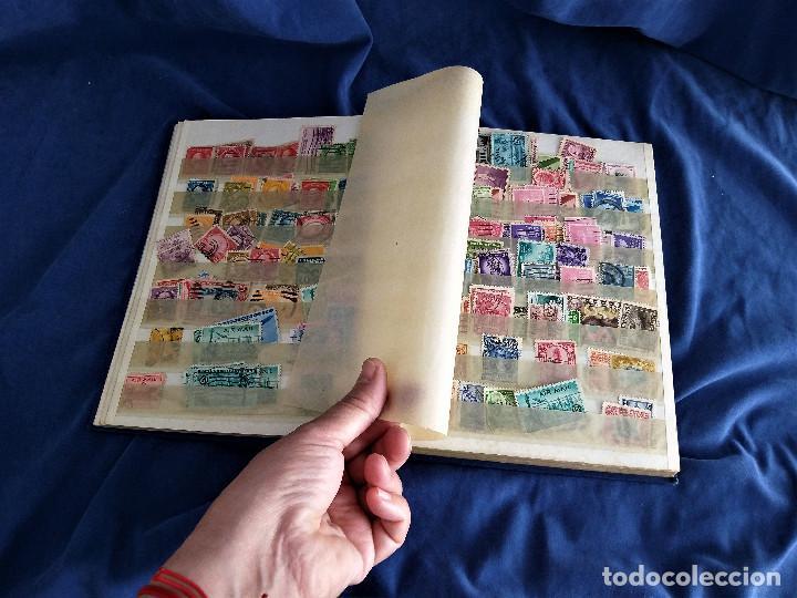 Sellos: lote restos coleccion sellos America 16 hojas,32 paginas de las cuales 24 completas de sellos - Foto 4 - 254739630