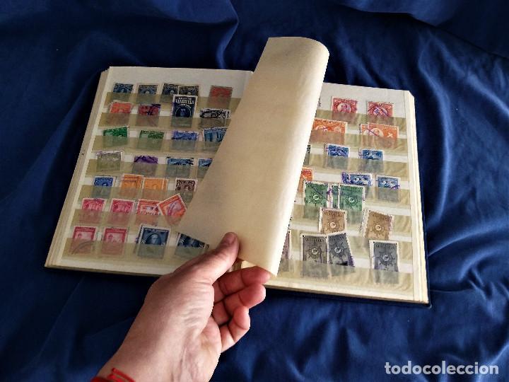 Sellos: lote restos coleccion sellos America 16 hojas,32 paginas de las cuales 24 completas de sellos - Foto 7 - 254739630
