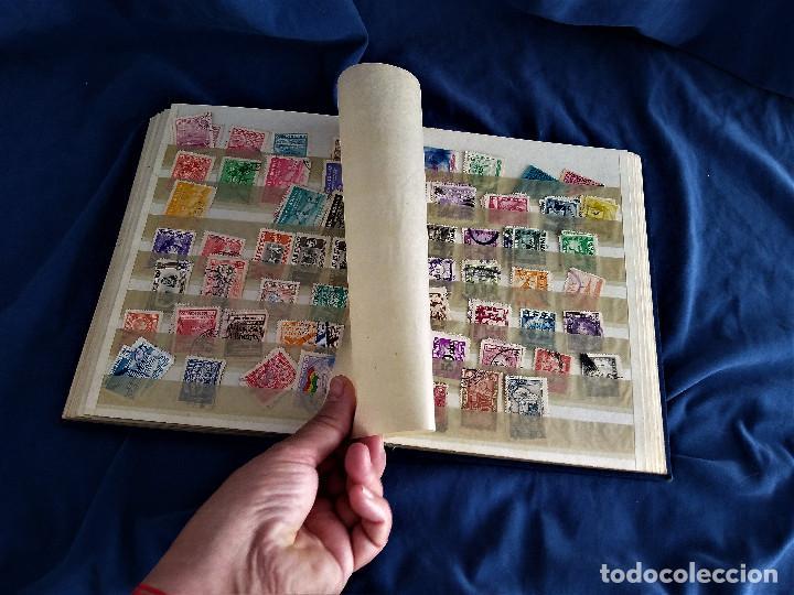 Sellos: lote restos coleccion sellos America 16 hojas,32 paginas de las cuales 24 completas de sellos - Foto 9 - 254739630