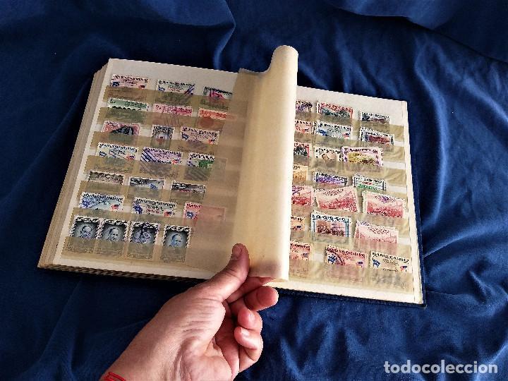 Sellos: lote restos coleccion sellos America 16 hojas,32 paginas de las cuales 24 completas de sellos - Foto 14 - 254739630