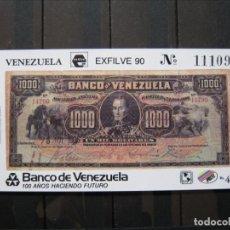 Sellos: VENEZUELA HOJA ESFILVE 90 MNH** LUJO!!!. Lote 261265485