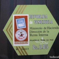 Sellos: VENEZUELA HOJA FILATELIA PARA LA PAZ MNH** LUJO!!!. Lote 261265715