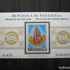 Sellos: VENEZUELA HOJA NUESTRA SEÑORA DE BELÉN MNH** LUJO!!!. Lote 295366768
