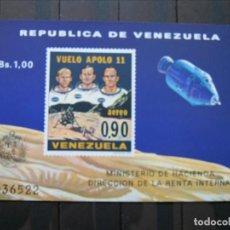 Sellos: VENEZUELA HOJA VUELO APOLO 11 MNH** LUJO!!!. Lote 261268535