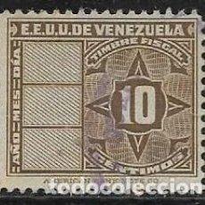 Sellos: VENEZUELA FISCALES YVERT 142. Lote 263060460