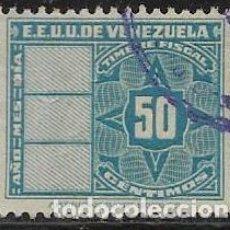 Sellos: VENEZUELA FISCALES YVERT 145. Lote 263060570