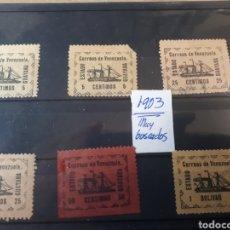 Sellos: VENEZUELA SELLOS USADOS ALGUNO ROTO VER FOTOGRAFIA , AÑO 1903 MUY BUSCADOS T03. Lote 263061805