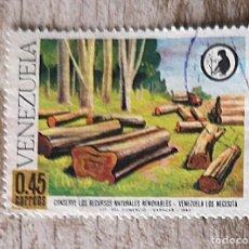 Sellos: VENEZUELA - USADO - AÑO 1968 - CONSERVE LOS RECURSOS NATURALES. Lote 277535823