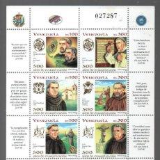 Sellos: VENEZUELA: 1998; 500 AÑOS DE LA EVANGELIZACIÓN. Lote 287542078