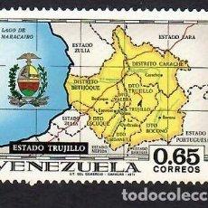 Selos: VENEZUELA (1971). ESTADO TRUJILLO, MAPA. YVERT Nº 831. NUEVO*** SIN FIJASELLOS (GOMA MATE).. Lote 288171238