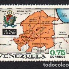 Selos: VENEZUELA (1971). ESTADO YARACUY, MAPA. YVERT Nº 832. NUEVO*** SIN FIJASELLOS (GOMA MATE).. Lote 288171733