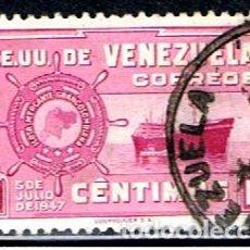 Sellos: VENEZUELA // YVERT 283 // 1948-50 ... USADO. Lote 288555523