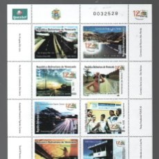 Sellos: VENEZUELA: 2003; HOJA COMPLETA DE 10 ESTAMPILLAS FONTUR. Lote 289514993