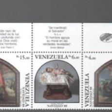 Sellos: VENEZUELA: 1988; 5 ESTAMPILLAS NAVIDAD. Lote 289517508