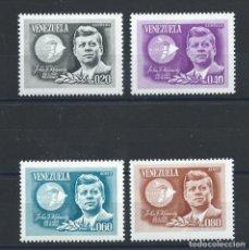 Sellos: VENEZUELA N°726/27 + PA 860/61* (MH) 1965 - JOHN F. KENNEDY. Lote 289535803