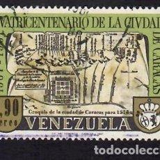 Sellos: VENEZUELA (1967). 400 ANIVERSARIO DE LA CIUDAD DE CARACAS. AÉREO. YVERT Nº PA920. USADO.. Lote 289761073