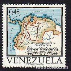Sellos: VENEZUELA (1969). 150 ANIVERSARIO DE LA GRAN COLOMBIA. YVERT Nº 796.. Lote 289762018