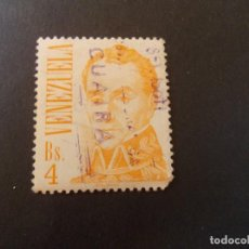 Sellos: SELLO VENEZUELA. SIMÓN BOLÍVAR DE JOSÉ MARÍA ESPINOZA BS4 31 X 36MM 1976. Lote 291167693