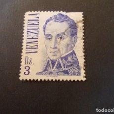 Sellos: SELLO VENEZUELA. SIMÓN BOLÍVAR DE JOSÉ MARÍA ESPINOZA BS3 31 X 36MM 1976. Lote 291167803