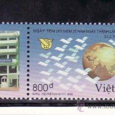 Sellos: VIETNAM 2065 SIN CHARNELA, GLOBO, DIA DEL SELLO, 25 ANIVº DEL CORREO DE VIETNAM . Lote 23687274