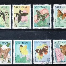 Sellos - vietnam 442/9 sin charnela, fauna, mariposas - 26872687