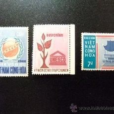 Sellos: VIETNAM DU SUD YVERT 301 - 310 **MNH UNESCO. Lote 34676461