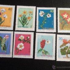 Sellos - Vietnam N. 847/54 Flores medicinales. 1975. Sellos usados y numeración Yvert. - 43710106