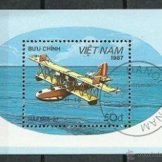 Sellos - Vietnam - 1987 - Scott 1801 - Usado (Vehiculos/Aviones) - 49728199
