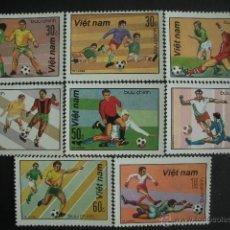 Sellos: VIETNAM 1990 IVERT 1086/93 *** CAMPEONATO DEL MUNDO DE FUTBOL EN ITALIA - DEPORTES. Lote 51065200