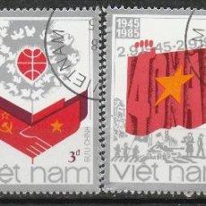 Sellos: VIETNAM 1985. SERIE. 40º ANIVERSARIO DE LA REPUBLICA SOCIALISTA. *.MH. Lote 52333177