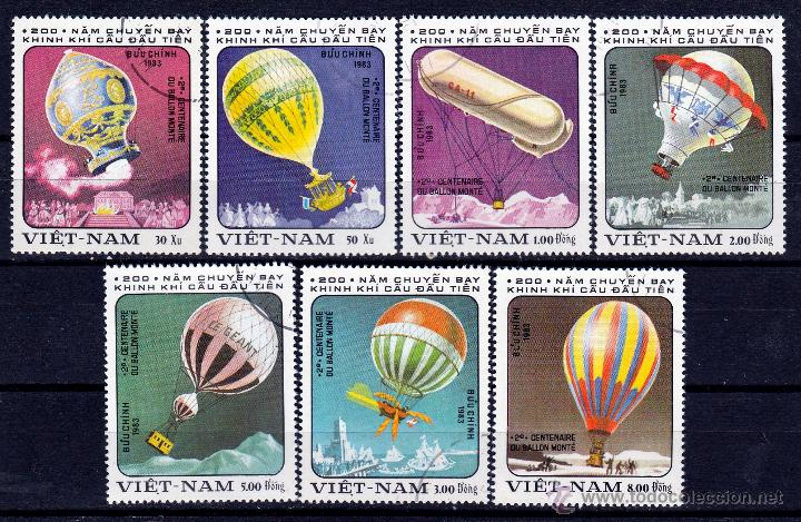 VIETNAM. 1983. SERIE. 200º ANIVERSARIO GLOBO AEROSTATICO. *,MH (Sellos - Extranjero - Asia - Vietnam)