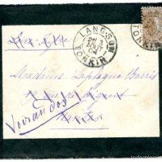 Sellos: HISTORIA POSTAL DE VIETNAM. TONKIN (INDOCHINA) A FRANCIA, 1906 . Lote 55709128