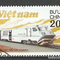 Sellos: VIETNAM - 1988 - MICHEL 1966 - USADO (VEHICULOS/TRENES). Lote 111089923