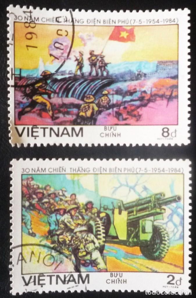 DOS SELLOS DE VIETNAM (Sellos - Extranjero - Asia - Vietnam)