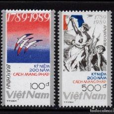 Sellos: VIETNAM 987/88** - AÑO 1989 - BICENTENARIO DE LA REVOLUCION FRANCESA. Lote 86173424