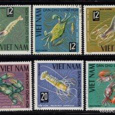 Sellos: VIETNAM DEL NORTE 442/47 - AÑO 1965 - FAUNA - CANGREJOS. Lote 86597912