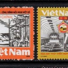 Sellos: VIETNAM 935/36** - AÑO 1988 - PROYECTO NDUSTRIAL SOVIETICO - VIETNAMITA. Lote 87692644